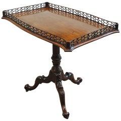 Rare and Unusual Irish Mahogany Silver Table