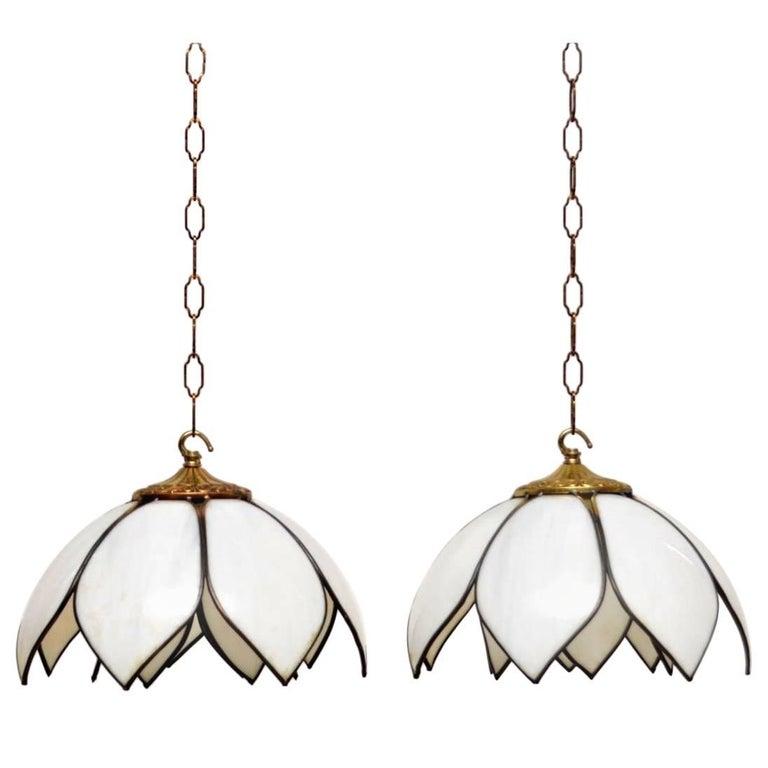 1960s Pair of Vintage Pendant Lamps