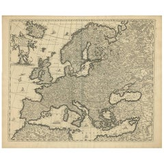 Antique Map of Europe by F. de Wit, circa 1690