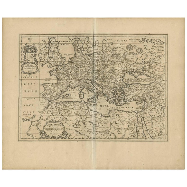 Map Of Europe For Sale.Antique Map Of Europe By J Janssonius Circa 1650 For Sale At 1stdibs