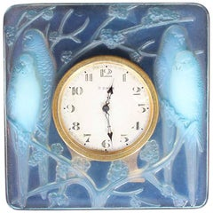 Lalique Art Deco Inseparables Clock