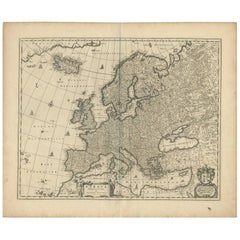 Antique Map of Europe by N. Visscher, circa 1660