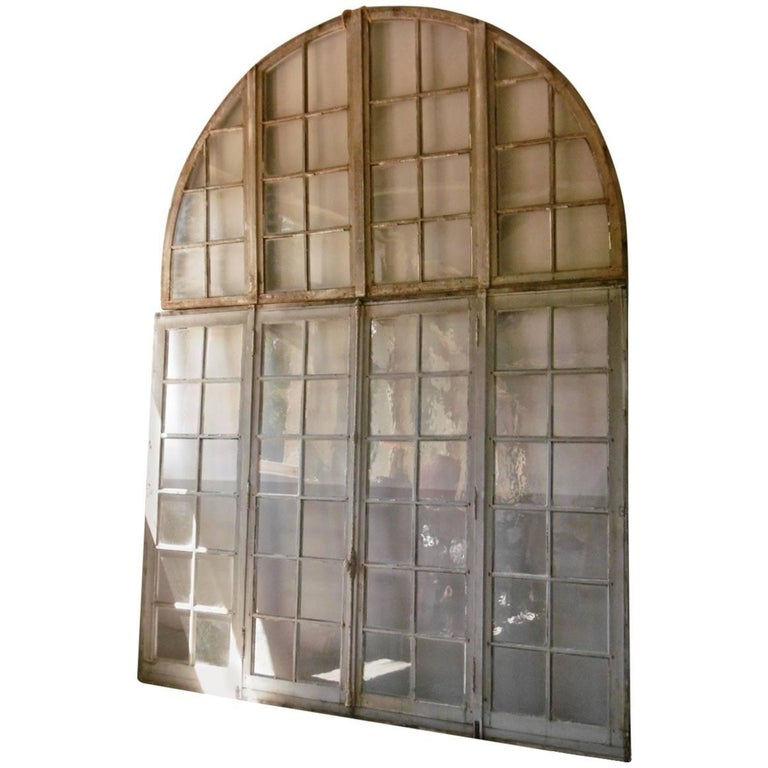 French Arcade Double Window Doors from a Burgundy Abbey Cloister