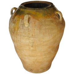 19th Century Extra Large Semi Glazed Ceramic Jar