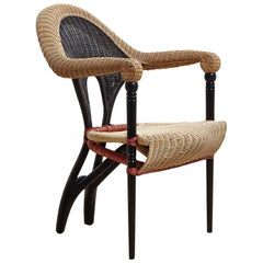 Liba, Rattan Armchair Designed by Borek Sipek for Driade