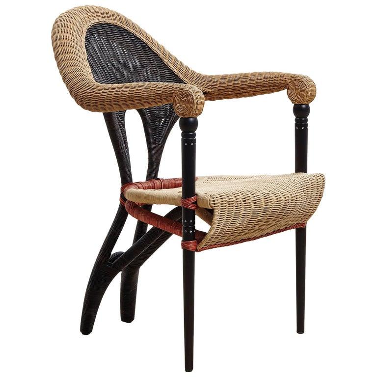 Liba, Rattan Armchair Designed by Borek Sipek for Driade