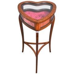 Edwardian Heart Shaped Bijouterie Table