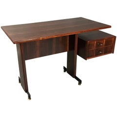 Midcentury Continental Mahogany Dressing Table or Small Desk