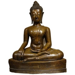 Large Bronze Bouddha, Northern Thailand, First Half of the 19th Century