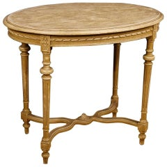Italian Side Table in Lacquered Wood in Louis XVI Style from 20th Century