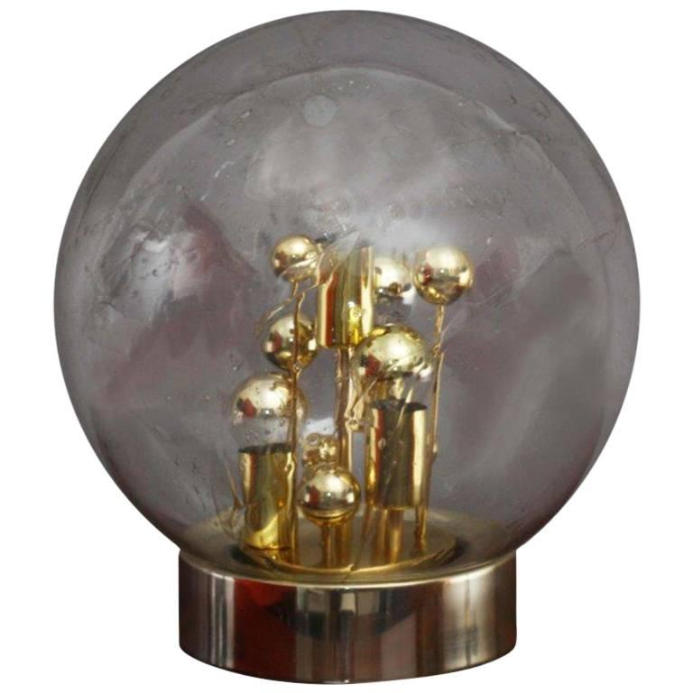 Handblown Bubble Glass Table Lamp by Doria Leuchten