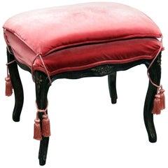 French Upholstered Stool