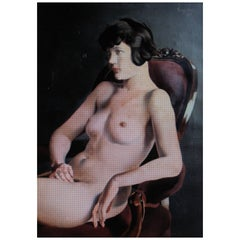 George Kirsta, 1927 Art Deco Nude Portrait, Manner Tamara De Lempicka