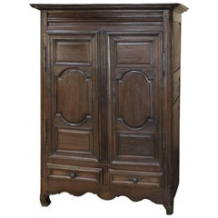 18th Century Rustic Country French Oak Armoire