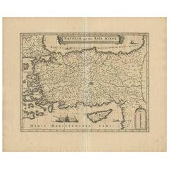Antique Map of Asia Minor by W.J. Blaeu, circa 1640