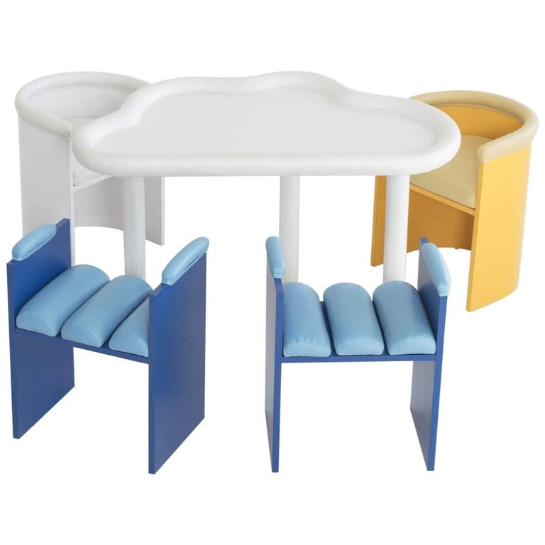 """Sam Stewart """"Untitled"""" 'Forecast Set' Table and Chair Set"""