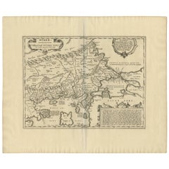 Antique Map of Thracia 'Greece' by J. Janssonius, circa 1650
