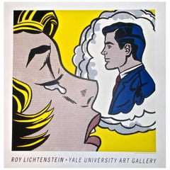 "Roy Lichtenstein Pop Art Poster of 1961 Painting ""Thinking of Him"""