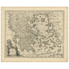 Antique Map of Greece by Allard (c.1698)