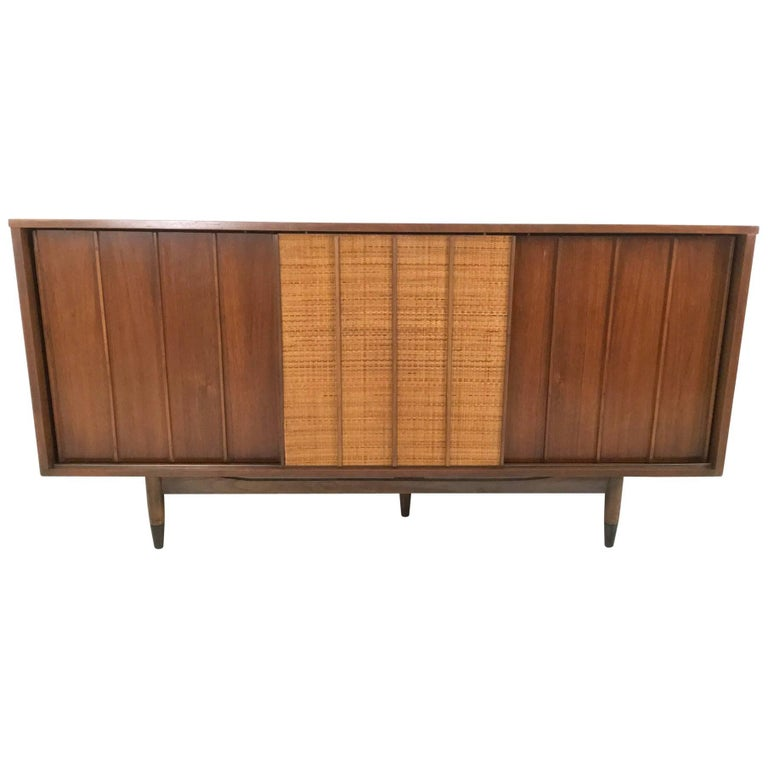 Walnut Sideboard Produced by Mainline with Double, Sided Doors, 1950s-1960s