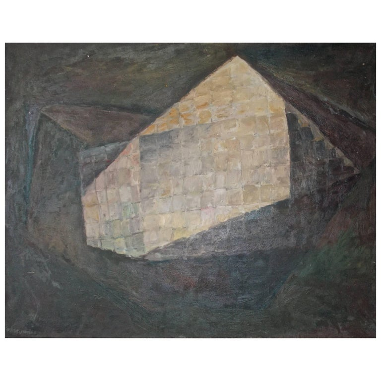 Peter Passuntino 1950s New York School Painting Zabriskie Gallery Label