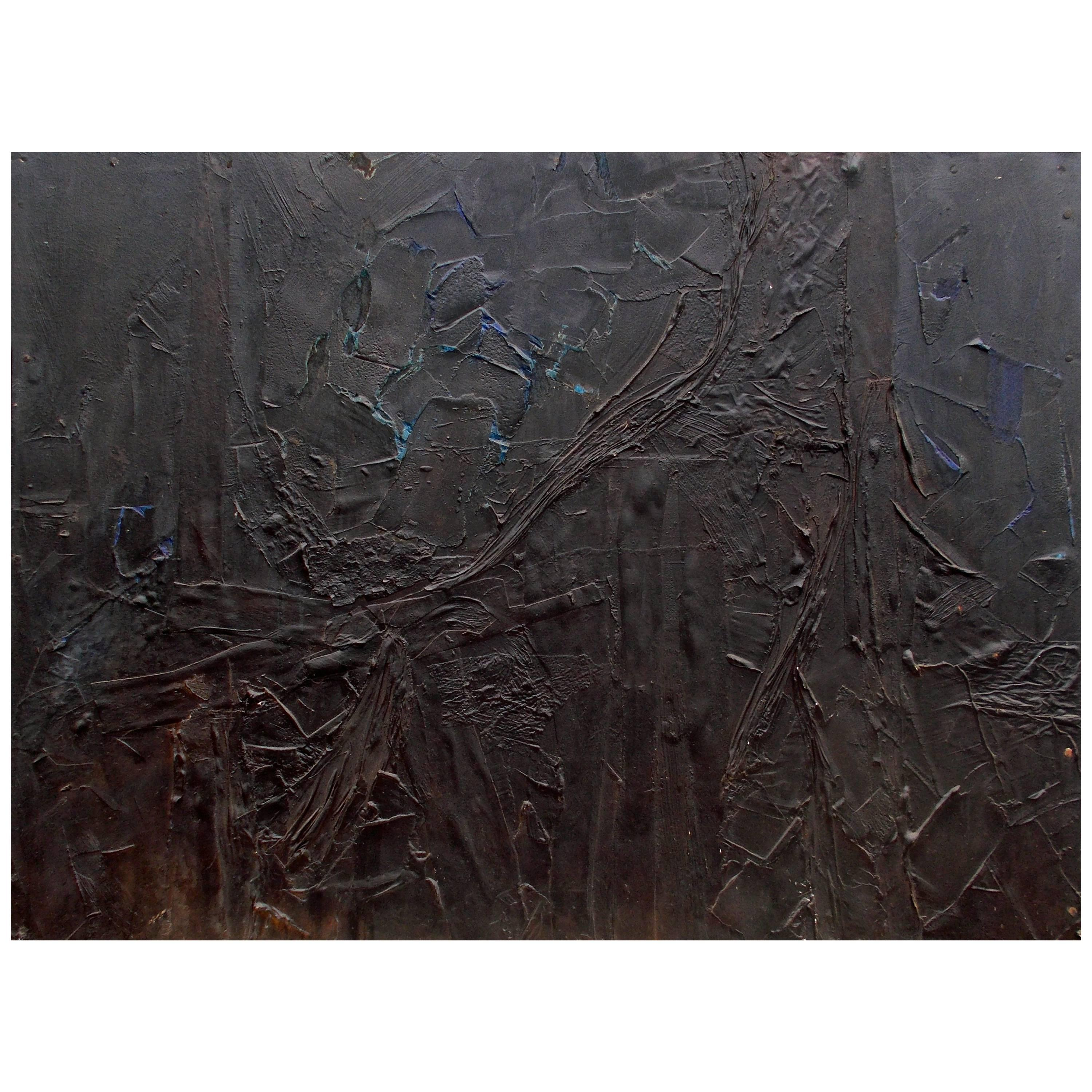Harry Bouras Chicago Abstract Expressionist  'Lg Nightfigure', 1960