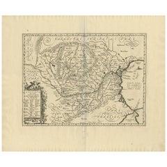 Antique Map of Romania 'Dacia & Moesia' by J. Jansson, circa 1650