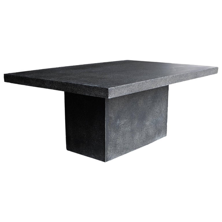 Lightweight Outdoor Slab Dining Table 'Coal' by Zachary A
