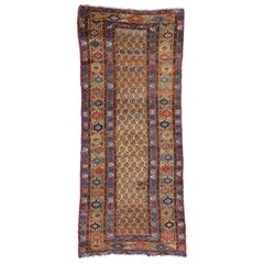 Antique Persian Kurdish Runner, Tribal Hallway Runner