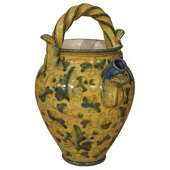 Antique Majolica Apothecary Jar from Italy, 19th Century