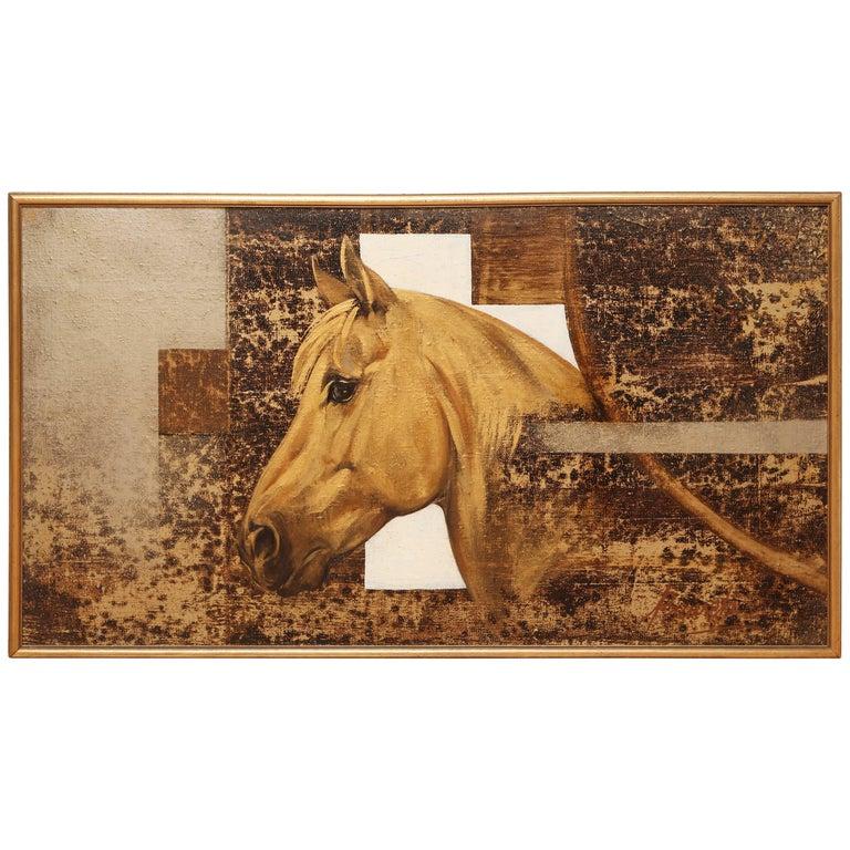 Original Equestrian Oil Painting