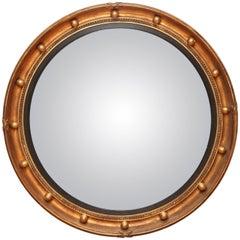 19th Century Bullseye Convex Mirror
