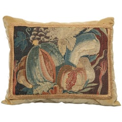 19th Century French Tapestry Fragment Cushion