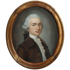 Pastel of a Gentleman, Circle of Daniel Gardiner, circa 1750-1805