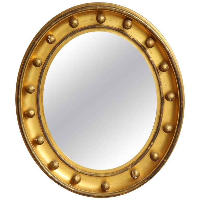 19th Century English, Glided, Beveled Mirror