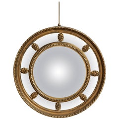 19th Century English, Sectionalized Convex Mirror
