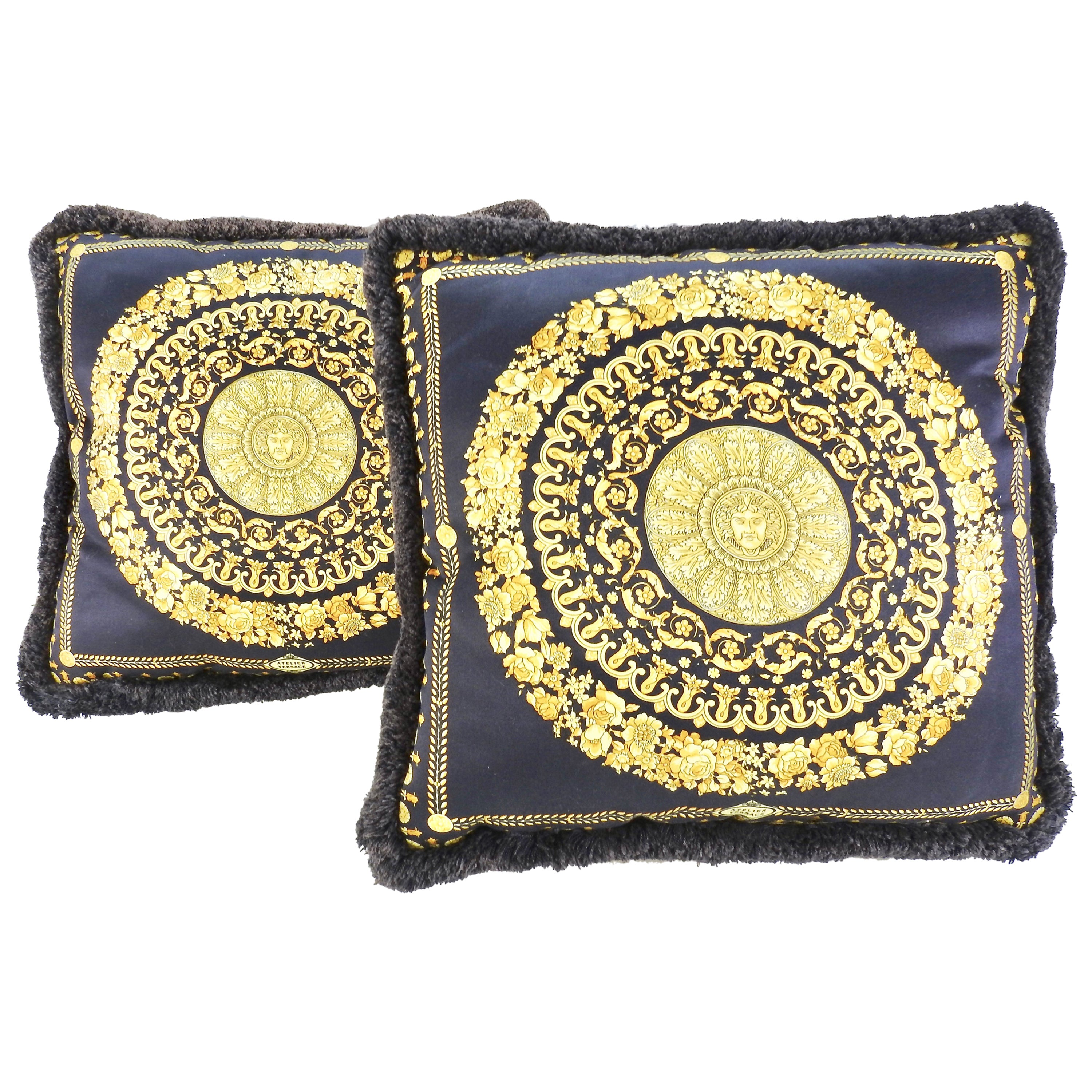e0004a7f64 Pair of Vintage Versace Medusa Royale Throw Pillows at 1stdibs