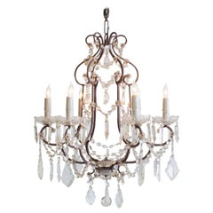Antique French Minimalist Chandelier