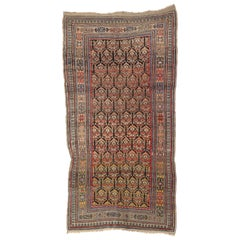 Antique Persian Kurdish Rug with Nomadic Raconteur Style, Wide Hallway Runner
