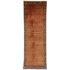 Antique Persian Mahal Runner with Modern Traditional Style, Long Hallway Runner