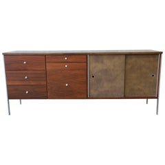Paul McCobb Area Plan Units Mid-Century Modern Walnut Low Credenza