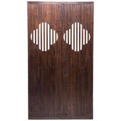 Pair of 19th Century Chinese Quatrefoil Doors