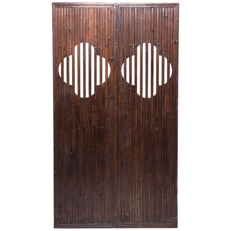 Pair of 19th Century Chinese Quatrefoil Doors For Sale