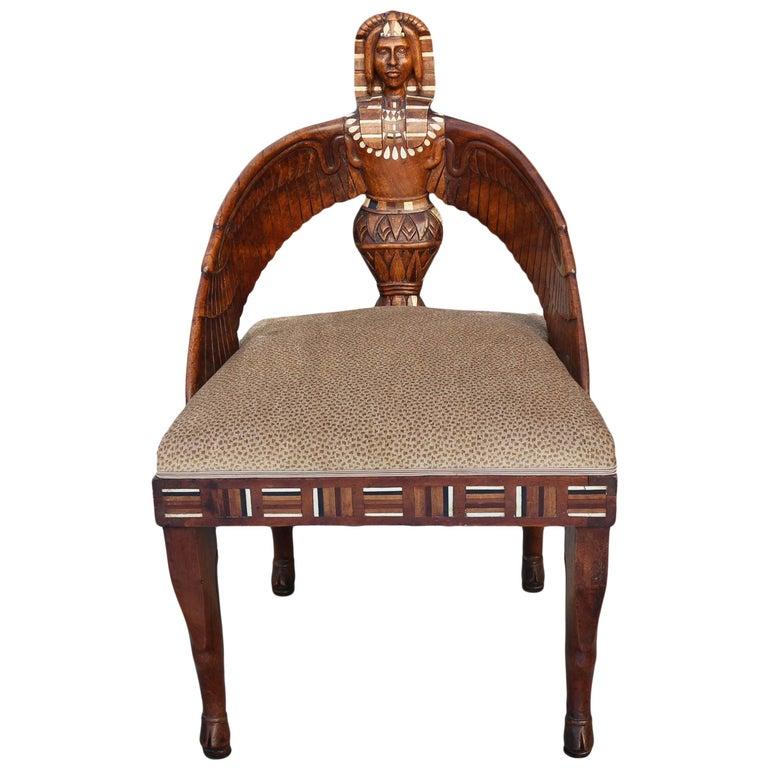 Egyptian Revival English Chair