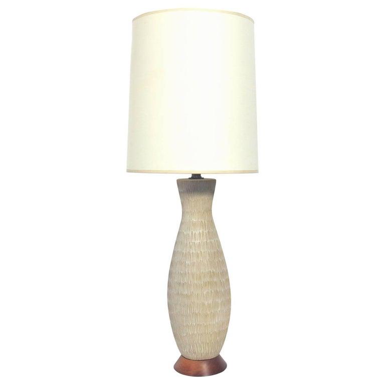 Textural Earth Tones Ceramic Lamp by Design Technics