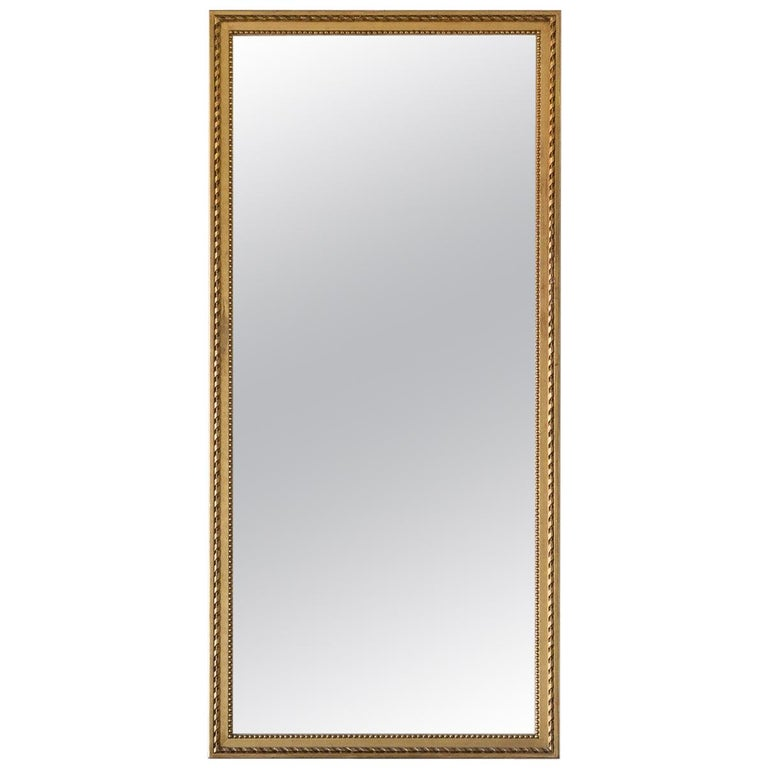 Antique French Rectangle Wall Mirror