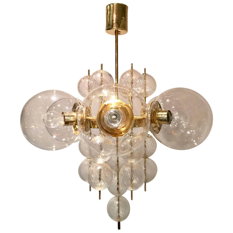 Kamenicky Senov Glass Chandelier