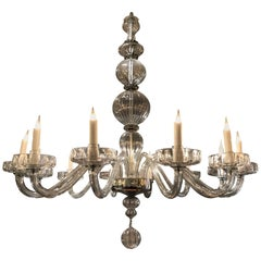 Important Murano Glass Chandelier