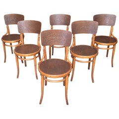 Set of Six Thonet Bentwood Dining Chairs