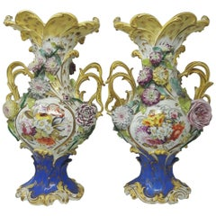 19th Century English Coalport Vases